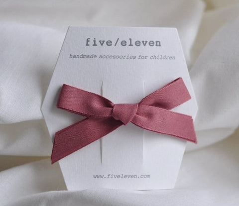 Five/Eleven Barrettes - Single Bows - Rosajou