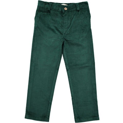 Olivier Baby Barnaby Trousers, Bottle Green Velvet