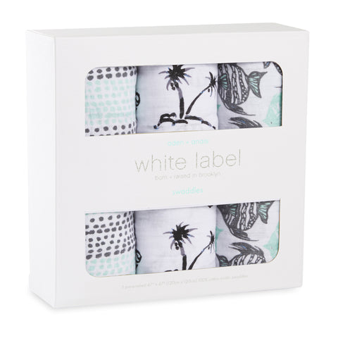 Aden and Anais 3-pack classic swaddles White Label Seaside