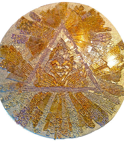 Keys of Ascension one of a kind mosaic art glass