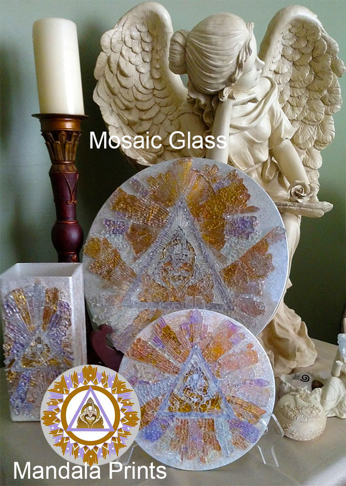 Mosaic Art Glass Keys of Ascension High Frequency Mandalas
