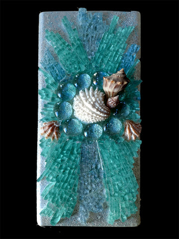 Mosaic Art Glass Healing Energy Lamp - A Little Taste of the Beach