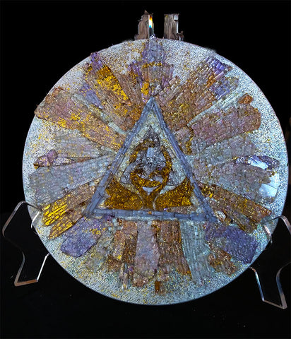 Mosaic Art Glass Circle of Everlasting Love 8 round
