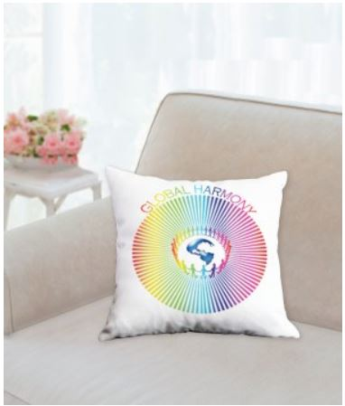 Throw Pillow Global Harmony