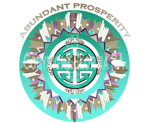 Window Decal Abundant Prosperity Symbol