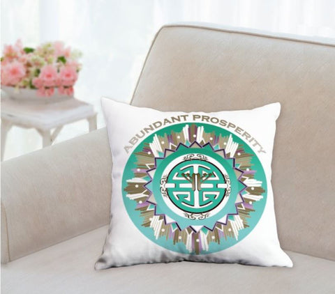 Throw Pillow Abundant Prosperity Symbol Mandala