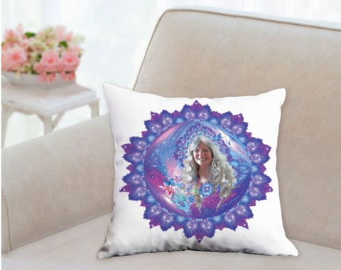 Throw Pillow Aura Portrait and Mandala