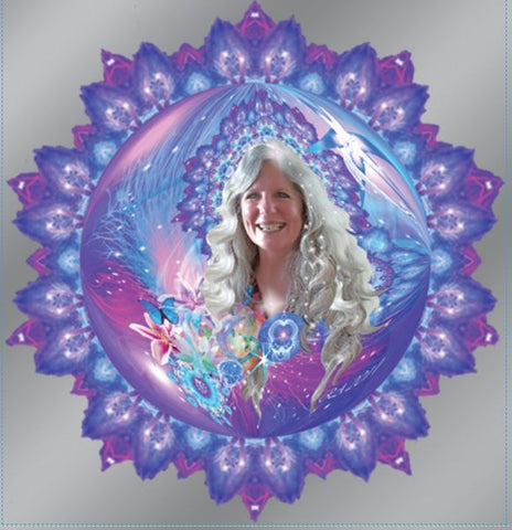 Window Decal  Aura Portrait and Mandala