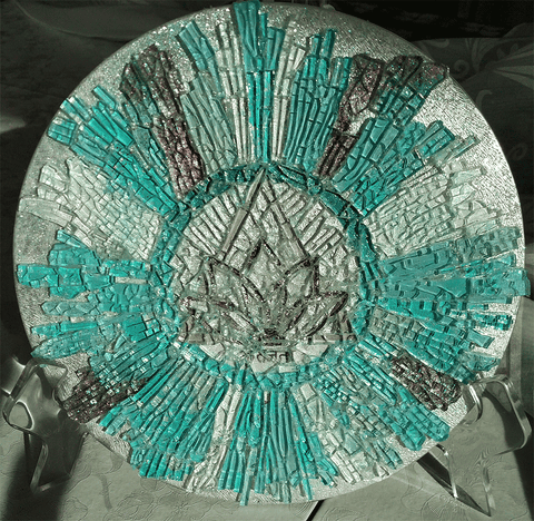 Magnificent Me Mosaic Art Glass Mandala