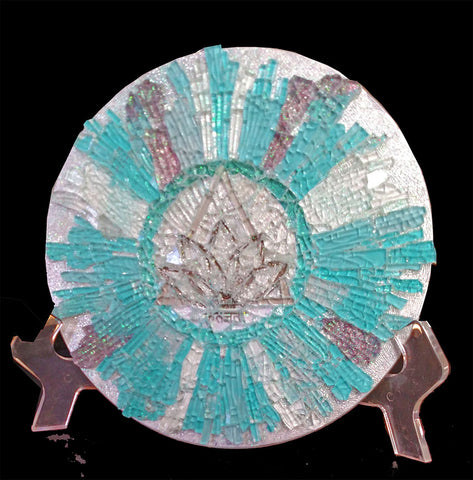 Mosaic Art Glass Living in Gratitude