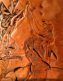 Fairy Art -  Ink Engraved Copper-Dolphin Fairy