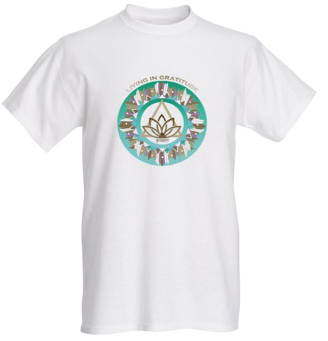 Short Sleeve T-shirt - Living in Gratitude Ascension Design