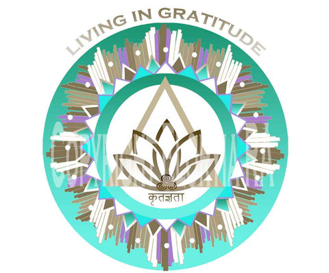 Window Decal 8x8 - Living in Gratitude Design