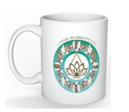 Coffee Mug 11 oz ceramic - Living in Gratitude Design