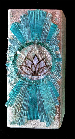 Mosaic Art Glass Lamp Living in Gratitude