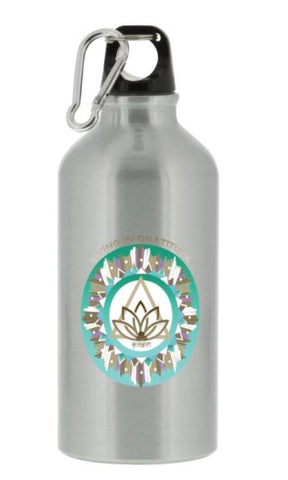Sports Bottle Living in Gratitude Energy Mandala