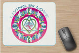 Mouse Pad Living in Love Healing Mandala