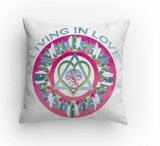Throw Pillow Living in Love Healing Mandala