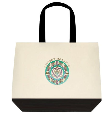Tote Bag Living in Love Healing Mandala