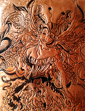 Fairy Art Ink Engraved Copper-Fairy Godmother