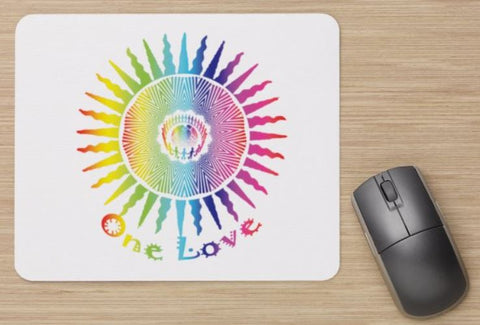 Mouse Pad White-One Love