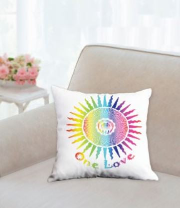 Throw Pillow 14x14 One Love Design