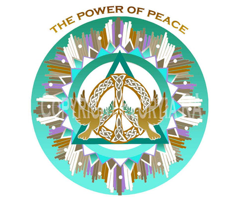 Window Decal 8x8 The Power of Peace