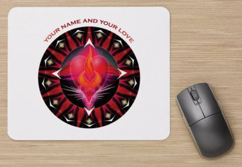 Mouse Pad Twin Flame Energy Mandala