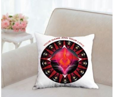 Throw Pillow Twin Flame Energy Mandala