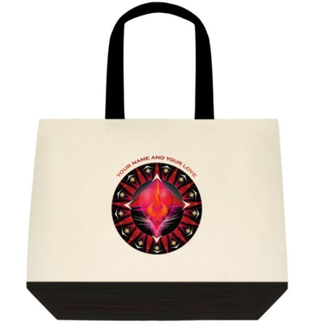 Tote Bag Twin Flame Energy Mandala