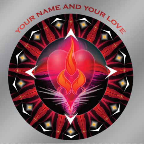 Window Decal Twin Flame Energy Mandala
