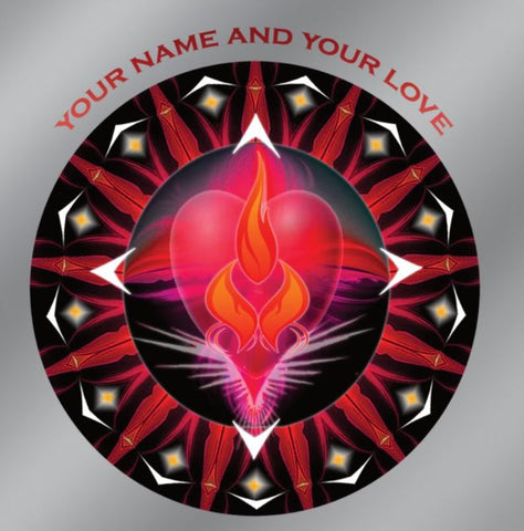 Window Decal Car 5x5 Twin Flame Energy Mandala