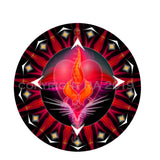 Short Sleeve T-shirt Men Twin Flame Energy Mandala Free Shipping