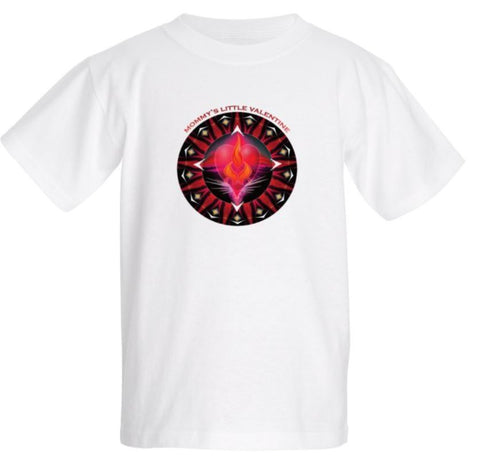 Short Sleeve T-shirt Kids Valentine Energy Mandala
