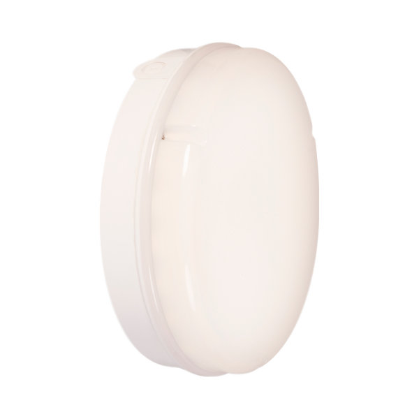 18w LED Emergency Microwave White Prismatic Bulkhead Fitting