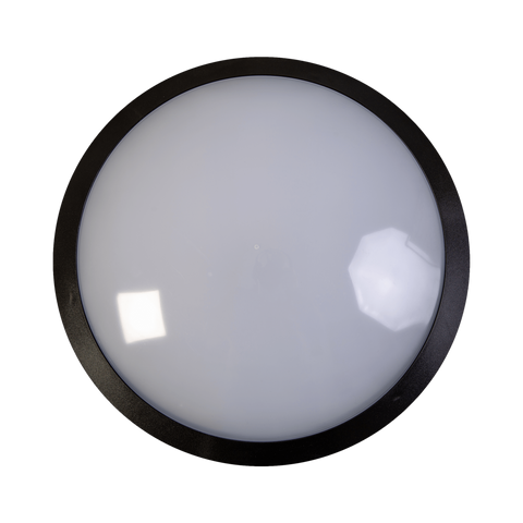 25w LED Standard Black Full Moon Communal Bulkhead Fitting