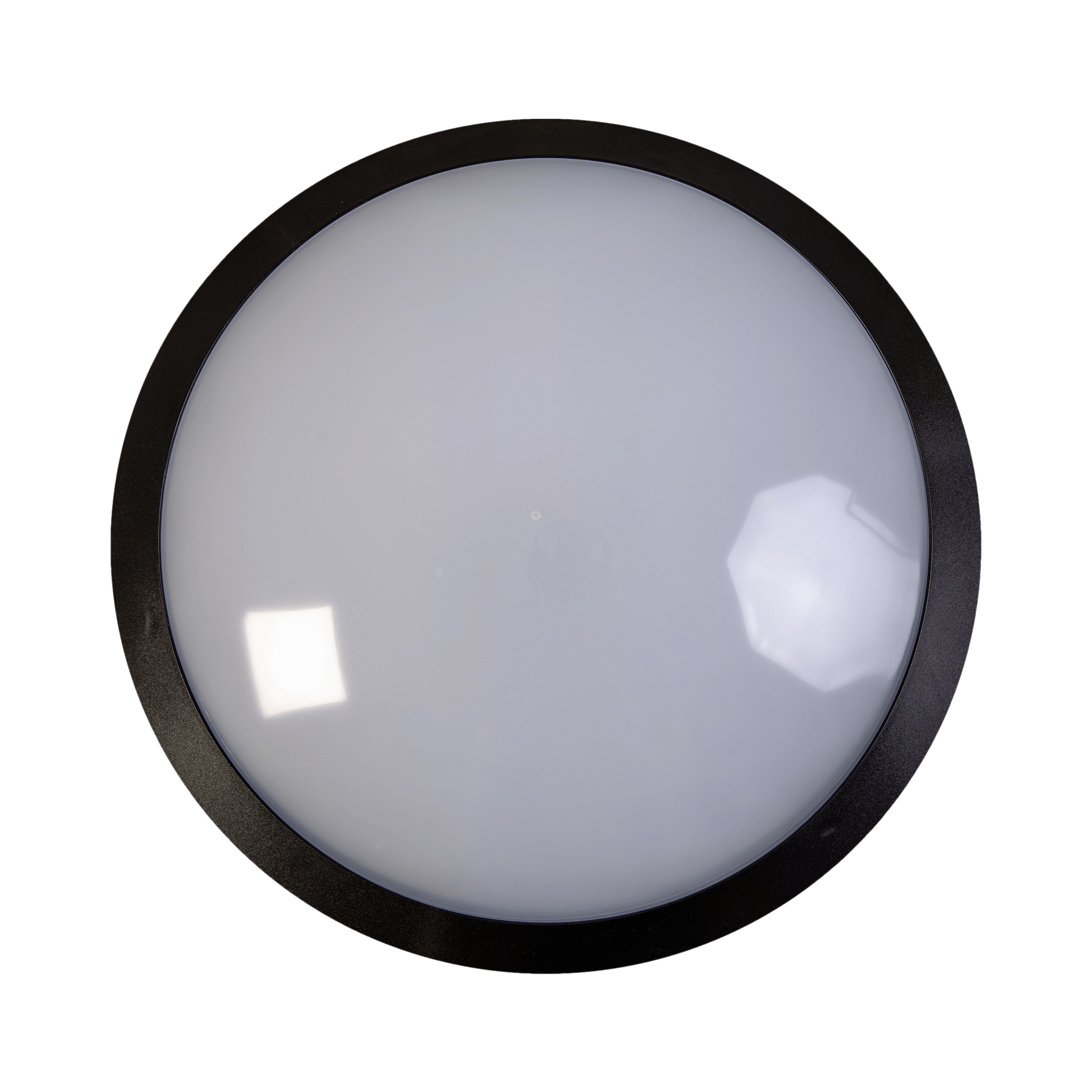 25w LED Emergency Black Full Moon Communal Bulkhead Fitting