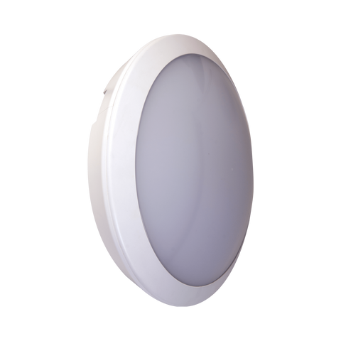 25w LED Microwave Corridor Function White Full Moon Communal Bulkhead Fitting