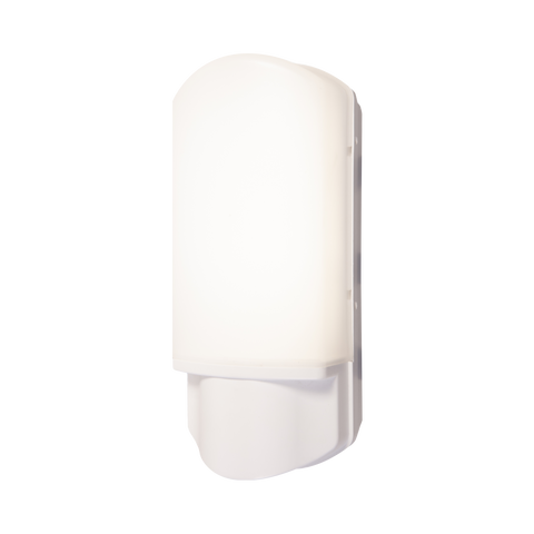 9w LED White Bulkhead with Night & Day Photocell