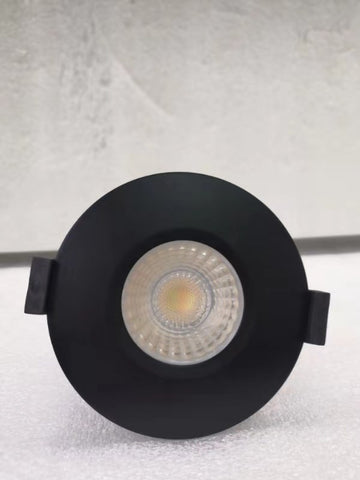 Matt Black Bezel For 8w LED Tri-Colour Dimmable Downlight