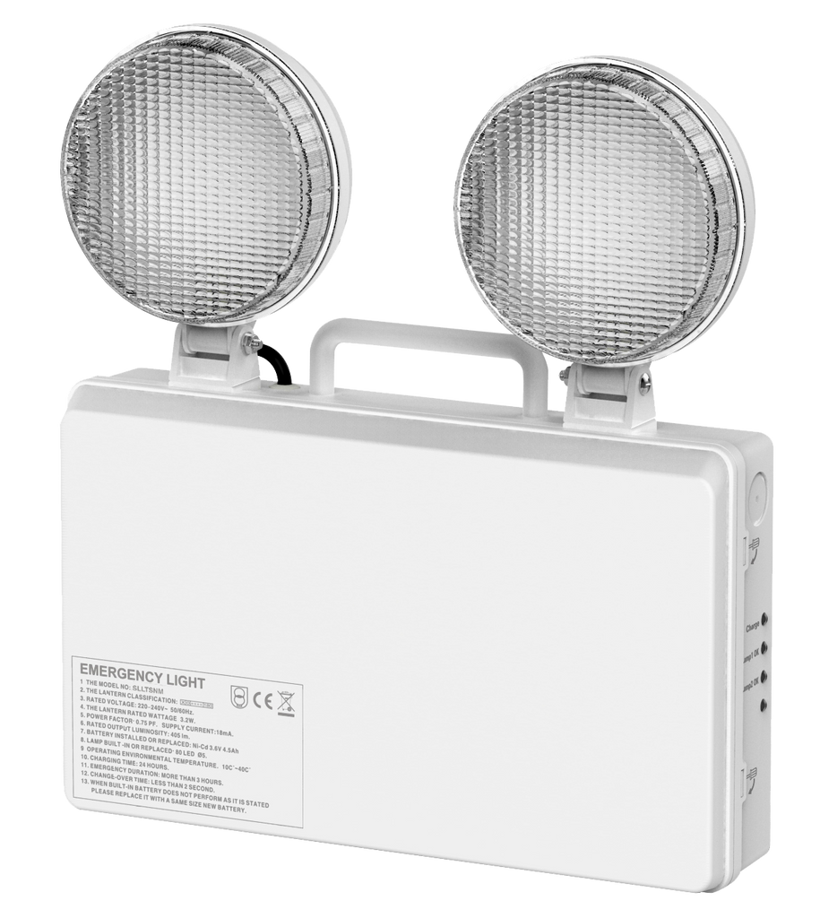 Ponus 3W LED Twin Spot Non Maintained Emergency Light