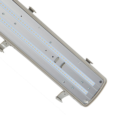 4ft LED Emergency Non Corrosive Twin Fitting
