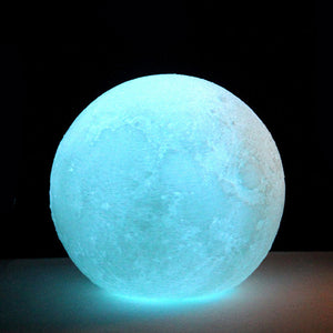 3D shine moon light, table lamp bathroom lamp