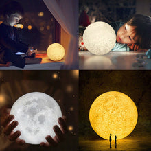Load image into Gallery viewer, 3D shine moon light, table lamp bathroom lamp