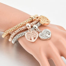 Load image into Gallery viewer, Heart Edition Charm Bracelet With Austrian Crystals