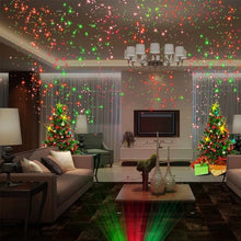 Load image into Gallery viewer, (CHRISTMAS) Star Shower Laser Christmas Lights & Outdoor Holiday Projectors