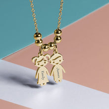 Load image into Gallery viewer, Engraved Children Charms Pendant Necklace