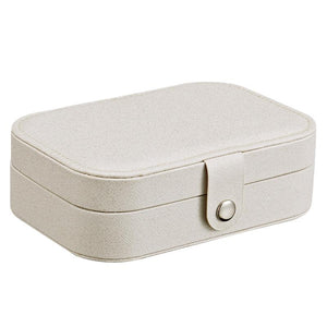 Protable Leather Multi-function Storage Box Case Jewelry Box