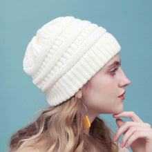 Load image into Gallery viewer, Hat Cap Skully Trendy Warm Chunky Soft Stretch Cable Knit Winter Hat For Women