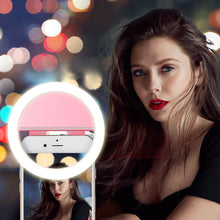Load image into Gallery viewer, USB charge LED Selfie Ring Light for Phone Lighting